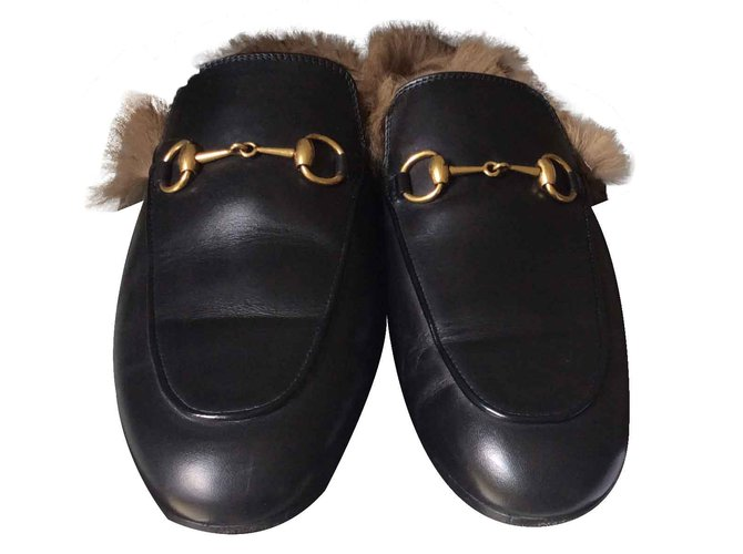 994c24495053 Gucci Mules Mules Leather Black ref.20319 - Joli Closet