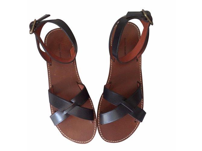 88497401ab7a9 Isabel Marant MERRY Sandals Leather Black ref.20375 - Joli Closet