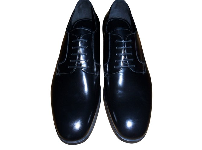 leather lace-up shoes - Black Prada TubLEW9aV