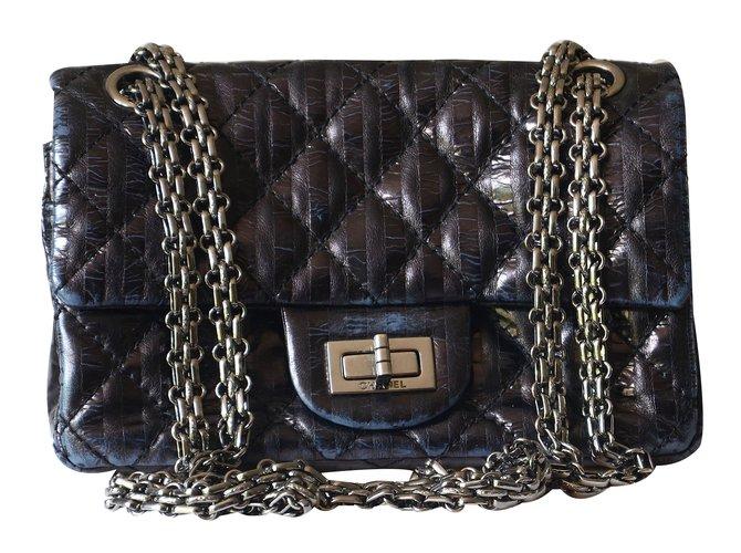 Sacs à main Chanel Mini 2.55 Cuir Noir ref.20463