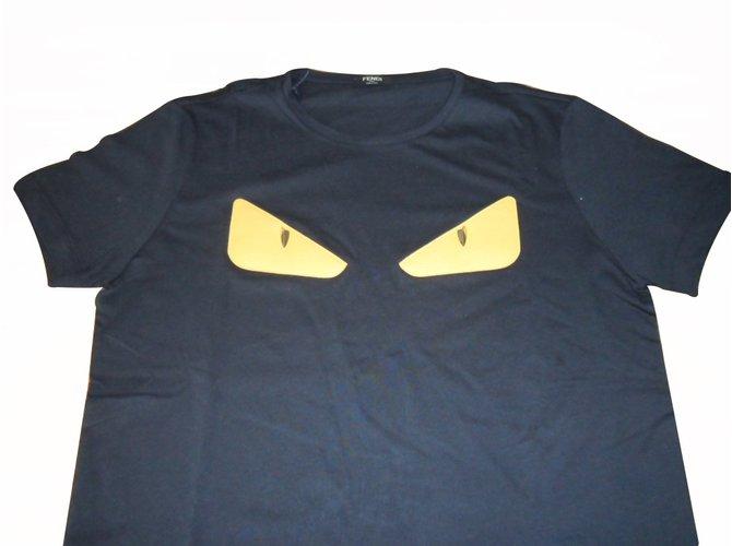 9074746e4 Fendi Fendi nwt men's t-shirt monster bag bug Tees Cotton Black ref.20517
