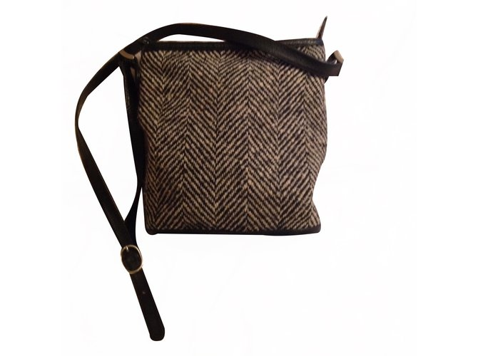 Rochas Handbag Handbags Tweed Black Ref 20591
