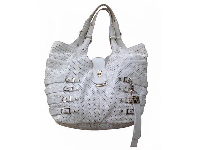 31b03c5ce8 Jimmy Choo Bree shoulder bag Handbags Leather White ref.20602 - Joli ...