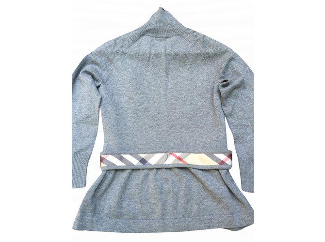 Burberry Pull Burberry London Knitwear Wool Grey ref.20611