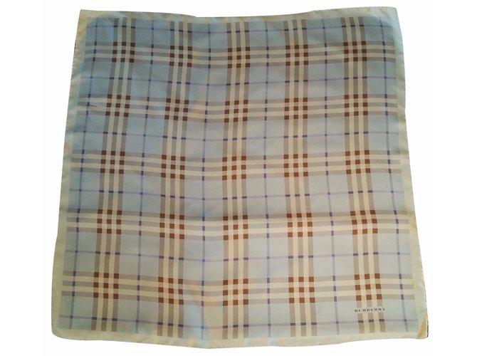 Burberry Silk scarves Silk scarves Silk Blue ref.20662