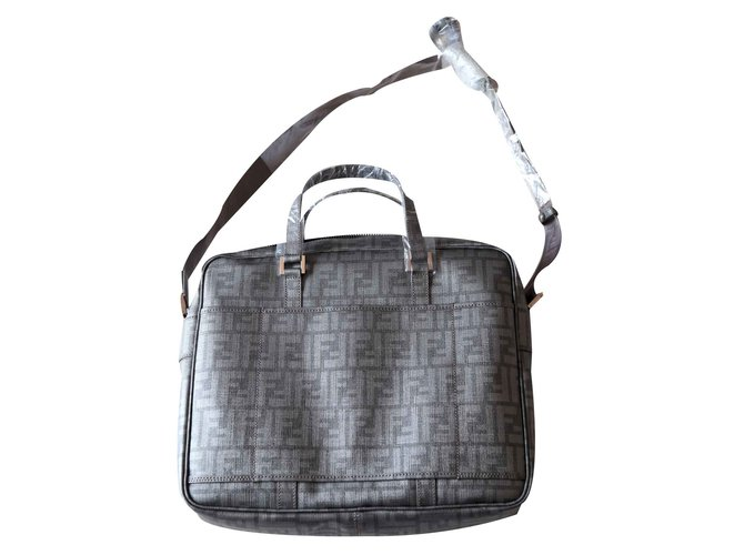 7c3c0f24b9 ... get fendi laptop bag bags briefcases synthetic grey ref.20735 bb529  6d6f8 ...