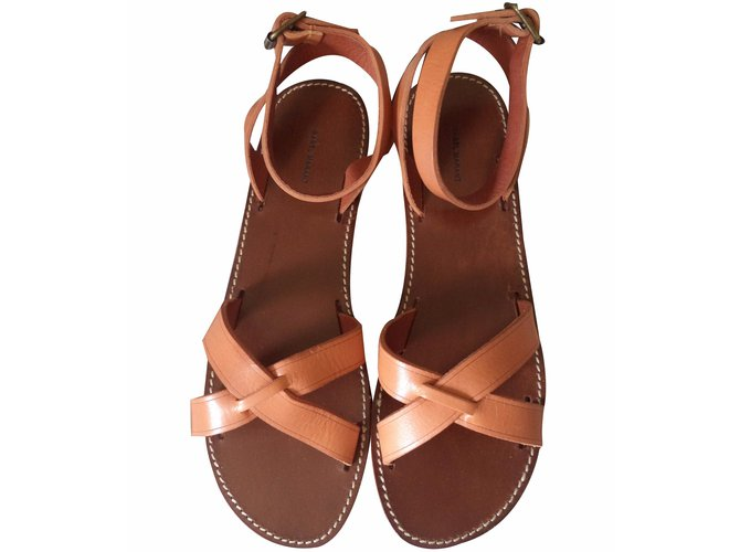 1e199944de73c Isabel Marant MERRY Sandals Leather Beige ref.20809 - Joli Closet