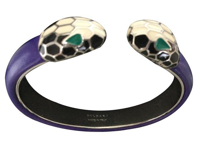 Bulgari Serpenti Bracelets Leather Purple Ref 20818