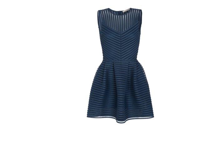 robe maje bleu et bkanc