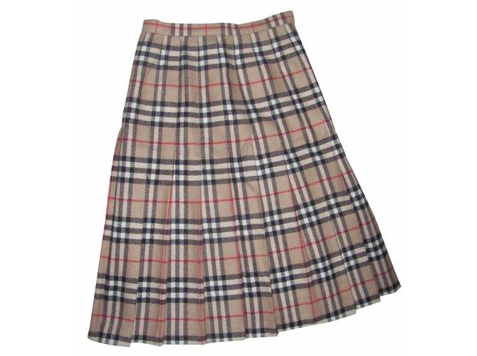 Burberry Skirt Skirts Wool Brown ref.20923