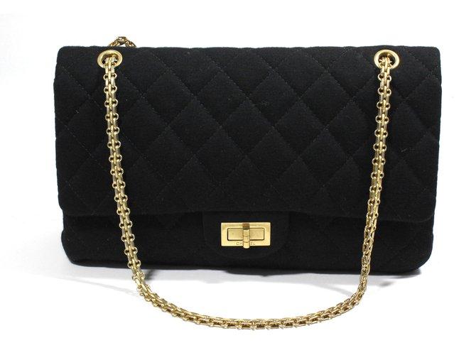 7a924fc363a7 Chanel Jersey 2.55 bag Handbags Other Black ref.21080 - Joli Closet
