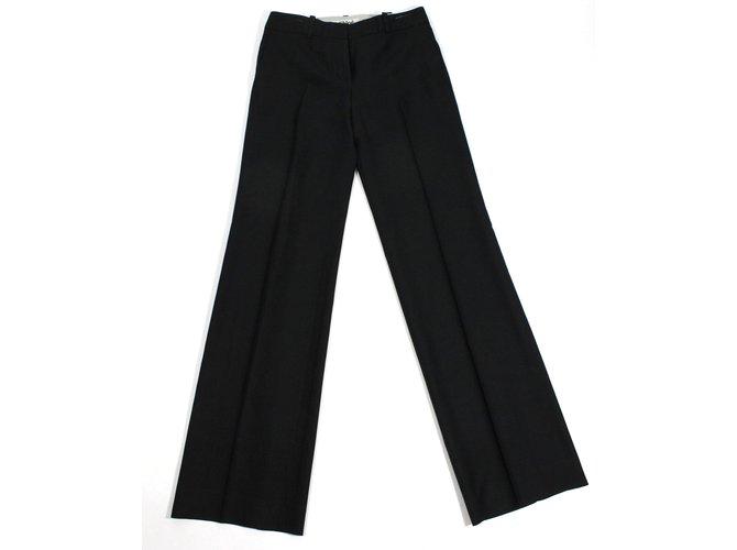 Chloé Pants Pants, leggings Silk,Wool Black ref.21200