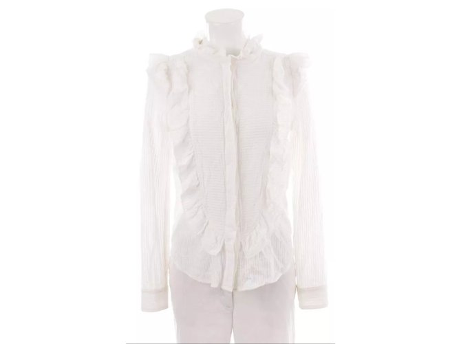 Tops Ref 21528 Closet Marant Etoile Chemise Isabel Blanc Coton Joli r4Bwxrq
