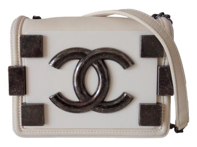 Sacs à main Chanel SAC CHANEL LEGO Cuir Blanc ref.21598