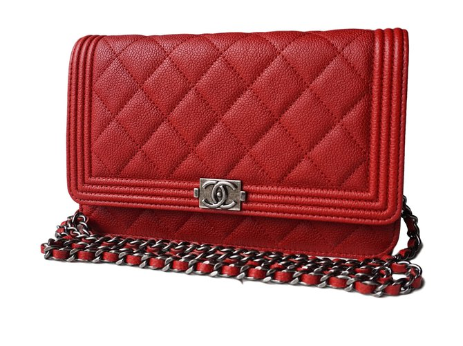 6a8c8ed1294d Chanel WOC boy Clutch bags Leather Red ref.21600 - Joli Closet