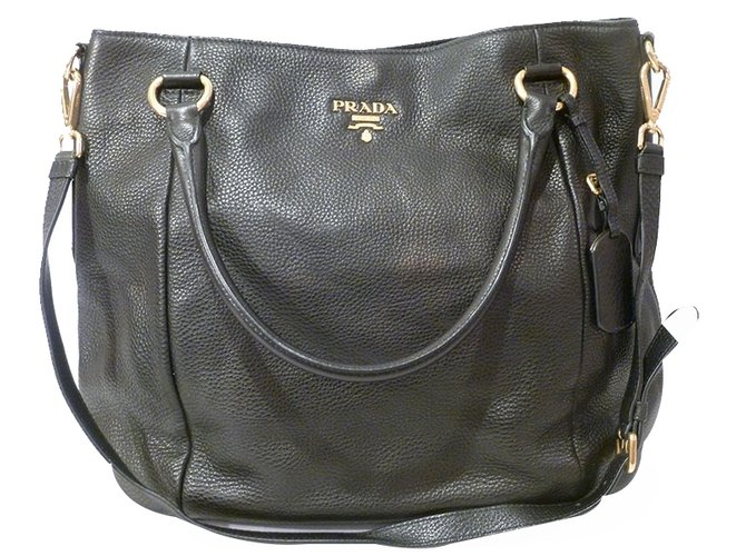 c4eeda8ef9dc Prada Prada Tote Bag Handbags Leather Black ref.21612 - Joli Closet