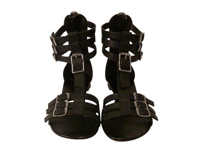 b579a5cf8b5 Giuseppe Zanotti Gladiator Sandals Sandals Leather Black ref.21744 ...