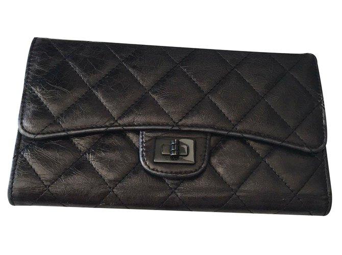 63fd7890ee3 Portefeuilles Chanel Porte-monnaie Cuir Noir