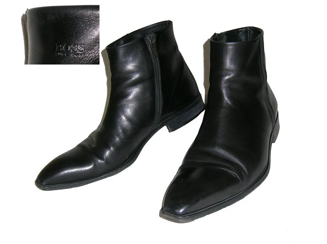 Hugo Boss Boots Boots Leather Black ref