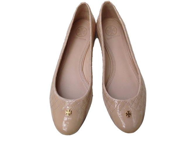 486b46f50ea4 Tory Burch Kent Ballet Flats Ballet flats Patent leather Eggshell ref.22166