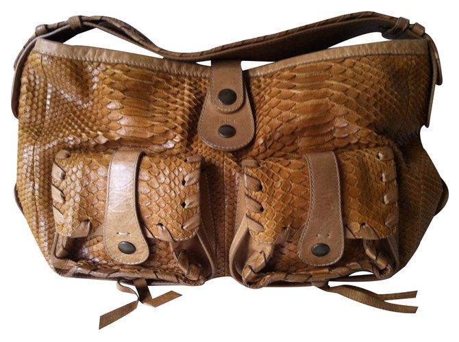 Chloé Handbags Handbags Exotic leather Light brown ref.22271