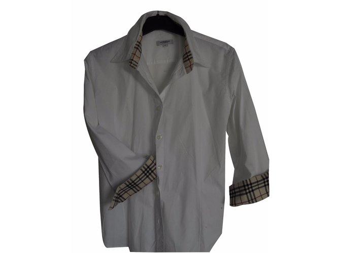 Burberry Shirt Tops Cotton Pink ref.22325