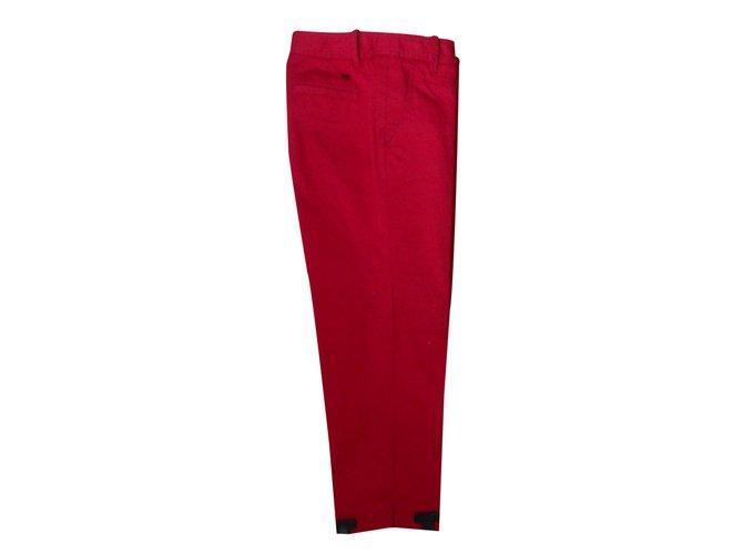 Pantalons fille Tommy Hilfiger Pantalon 7/8ème Coton Rouge ref.22546