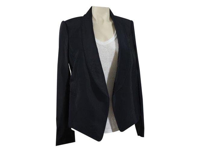 Chloé Blazer Jackets Silk,Viscose Black ref.22701