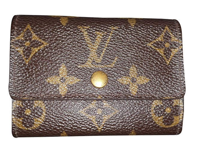 54d37610464 Petite maroquinerie Louis Vuitton Porte monnaie Cuir Marron ref.22772