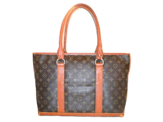 Sacs de voyage Louis Vuitton Vintage sac week-end PM Synthétique Marron  ref.22863 a6011bfccd7