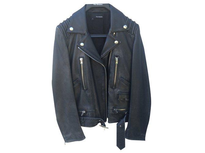 afbafeaf9f The Kooples Leather jacket Biker jackets Leather Black ref.22921 ...