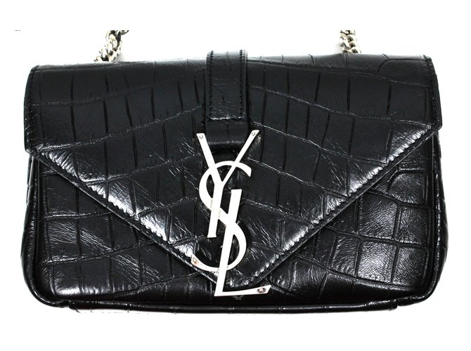 677d7a1ab8 Yves Saint Laurent Baby Satchel Handbags Leather Black ref.23202 ...