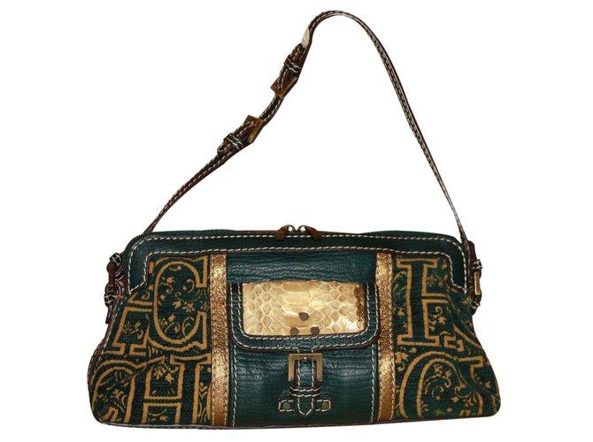 0d85aa826 Carolina Herrera Handbag Handbags Cloth Dark grey ref.23247 - Joli ...