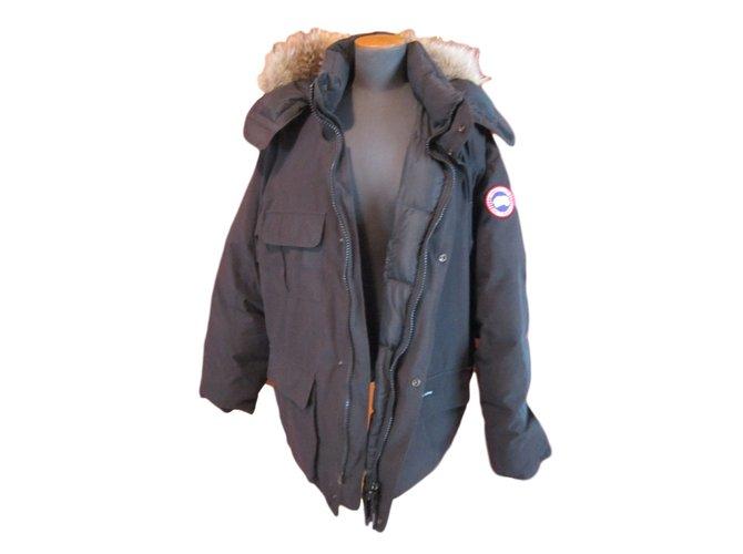 Canada Goose Parka Men Coats Outerwear Polyester Black ref.23441