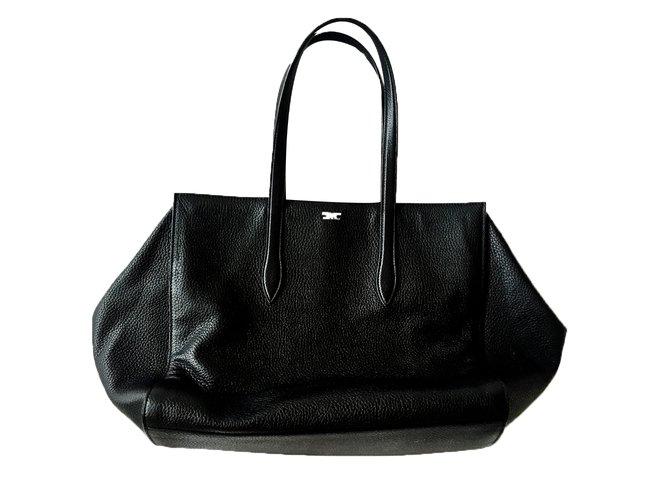 042eca3e071 Giorgio Armani Handbag Handbags Leather Black ref.23555 - Joli Closet