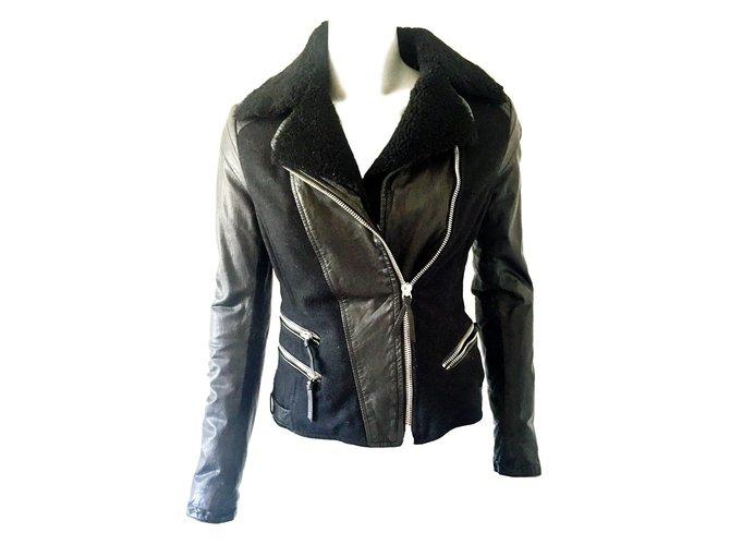 Vestes Armani Exchange Veste Cuir Noir ref.23559 - Joli Closet 9ab268ec688