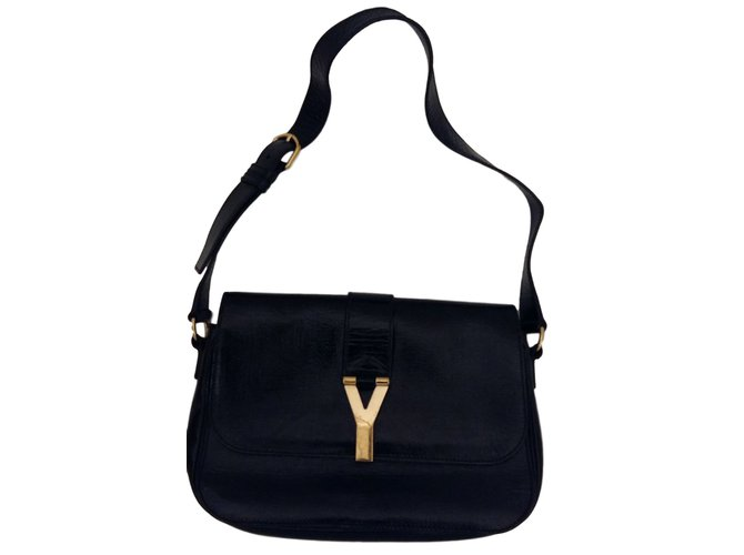 Yves Saint Laurent CHYC Flap Bag Black Handbags Patent leather Black  ref.23947 849d001d96401