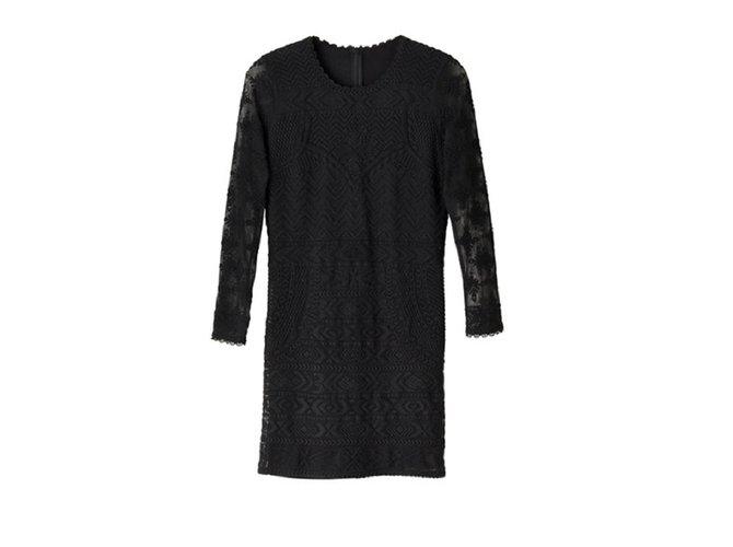 Robes Isabel Marant Pour H M Robe Dentelle Coton Noir Ref 23995 Joli Closet