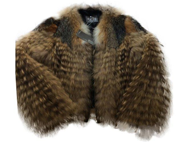 Vestes Yves Salomon fourrure de renard et marmotte Fourrure Gris ref.24001
