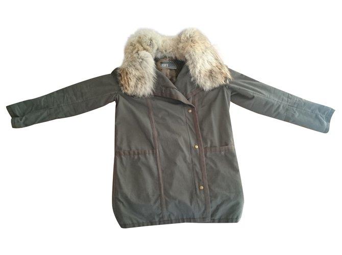 Yves Salomon Yves Salomon Army parka Coats, Outerwear Cotton Khaki ref.24117