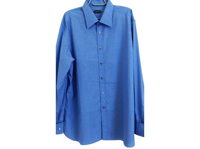 a7fdf7a067a Tom Ford Shirt Shirts Cotton Blue ref.24138 - Joli Closet