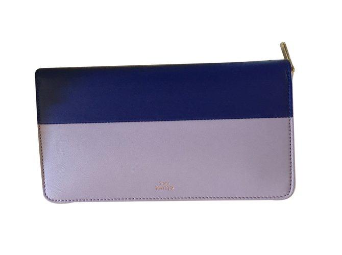 Céline Purse Purses, wallets, cases Leather Purple ref.24261