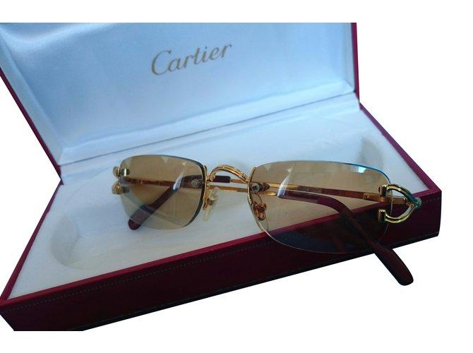 3b480d8fe0 Lunettes Cartier Lunettes Plaqué or Doré ref.24273 - Joli Closet