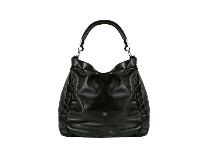 9366909fba5 Yves Saint Laurent Handbag Handbags Patent leather Black ref.24281 ...