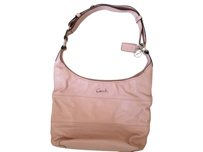 a4c9f77241 Coach Light pink shoulder bag Handbags Lambskin Pink ref.24303 ...