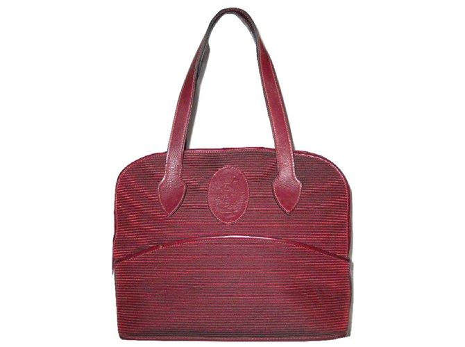 b510ff63378 Yves Saint Laurent Handbag Handbags Cloth Dark red ref.24311 - Joli ...