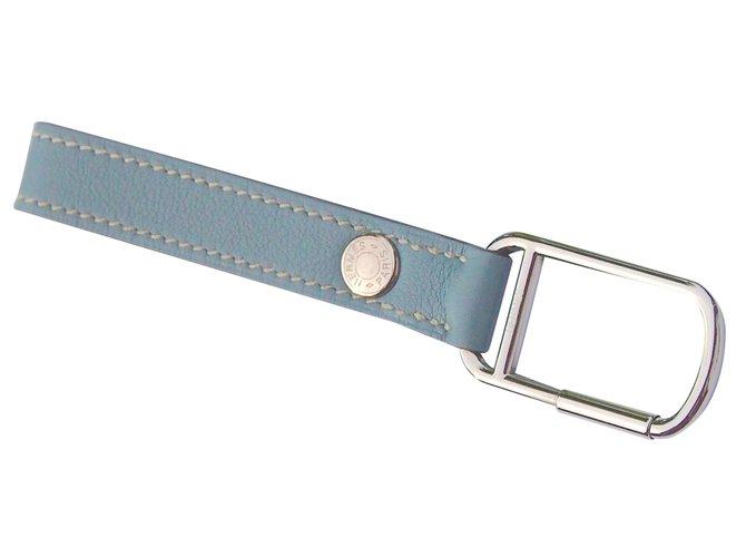 f251a20c6cd Petite maroquinerie homme Hermès Porte clés Cuir Bleu ref.24416 ...