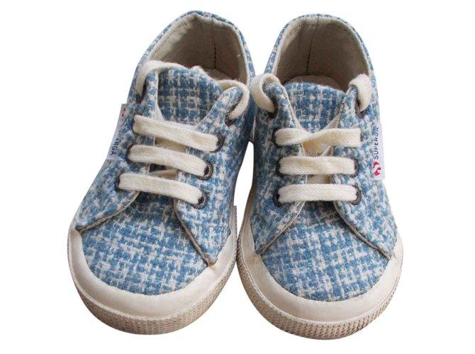 Baskets enfant Superga Tweed Autre Bleu ref.24456