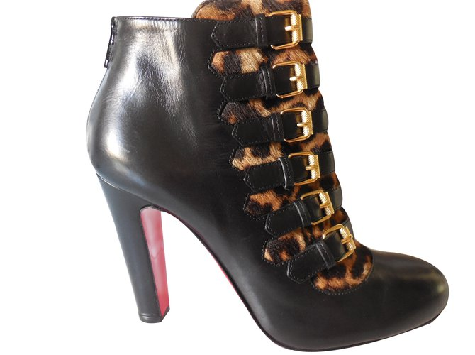 louboutin bottines noir