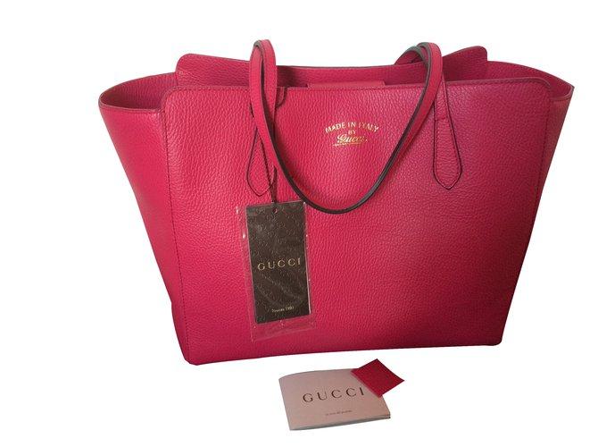 4d017cec55e4 Gucci Swing Totes Leather Pink ref.24564 - Joli Closet